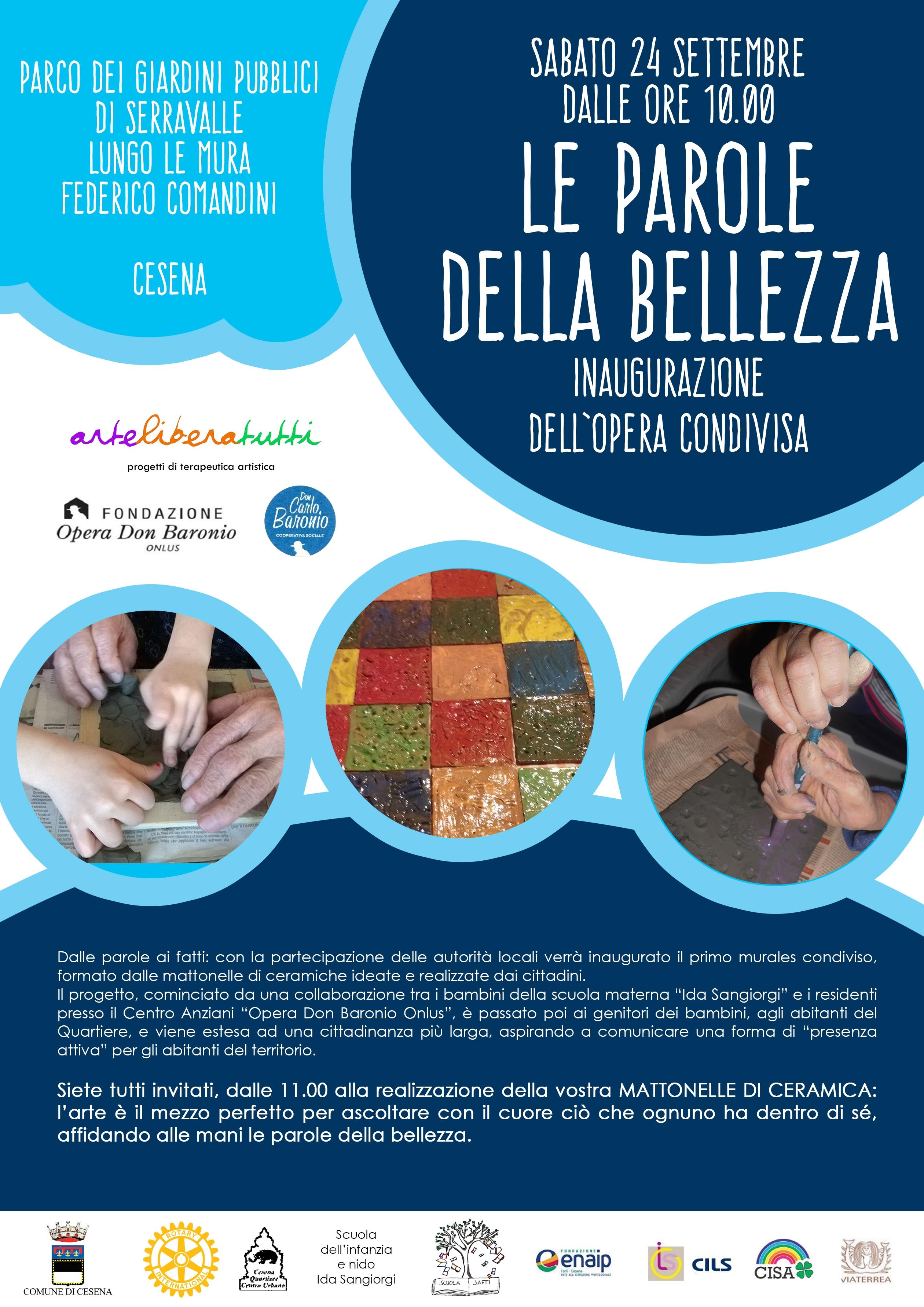 """Inaugurazione Dell' Opera Condivisa """"LE PAROLE DELLA BELLEZZA"""""""
