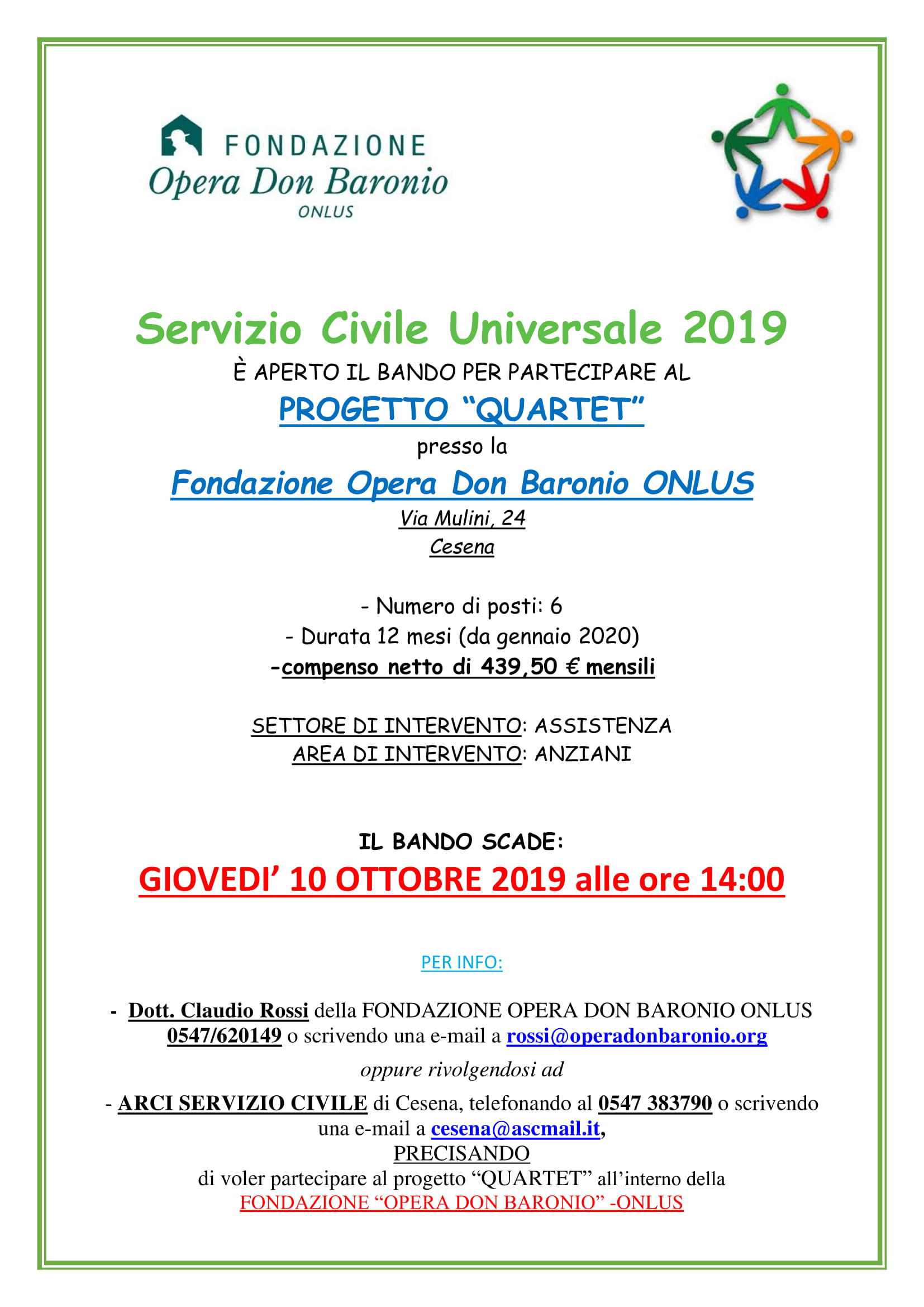 Al Via Il NUOVO BANDO Per Il SERVIZIO CIVILE UNIVERSALE 2020